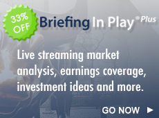 Get 33% off Briefing In Play Plus for earnings season
